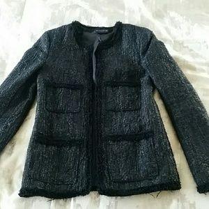 Zara Black Tweed Blazer
